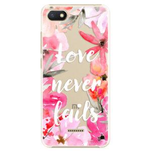 Plastové puzdro iSaprio - Love Never Fails - Xiaomi Redmi 6A