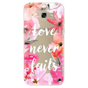 Odolné silikónové puzdro iSaprio - Love Never Fails - Samsung Galaxy A5 2017