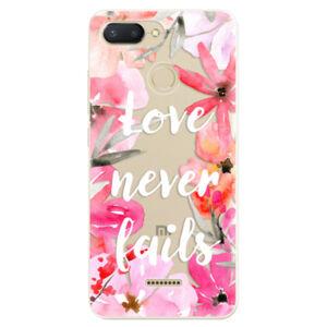 Odolné silikónové puzdro iSaprio - Love Never Fails - Xiaomi Redmi 6