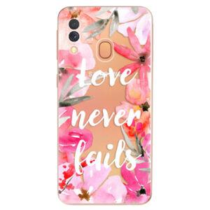 Odolné silikónové puzdro iSaprio - Love Never Fails - Samsung Galaxy A40