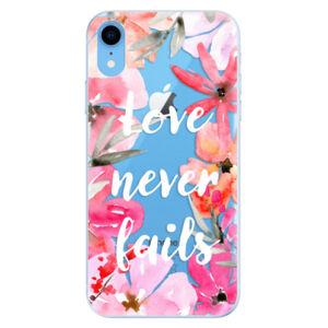Odolné silikónové puzdro iSaprio - Love Never Fails - iPhone XR
