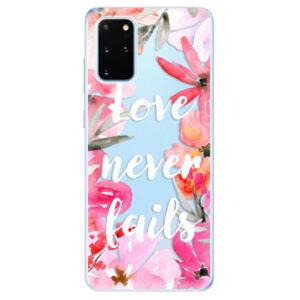Odolné silikónové puzdro iSaprio - Love Never Fails - Samsung Galaxy S20+