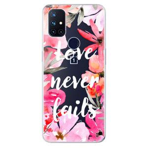 Odolné silikónové puzdro iSaprio - Love Never Fails - OnePlus Nord N10 5G