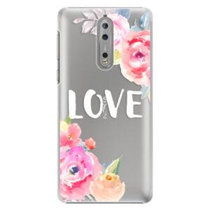Plastové puzdro iSaprio - Love - Nokia 8