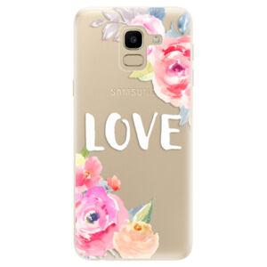 Odolné silikónové puzdro iSaprio - Love - Samsung Galaxy J6