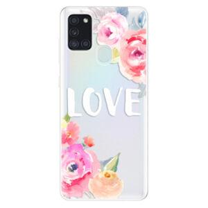 Odolné silikónové puzdro iSaprio - Love - Samsung Galaxy A21s