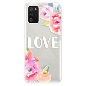 Odolné silikónové puzdro iSaprio - Love - Samsung Galaxy A02s