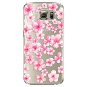 Plastové puzdro iSaprio - Flower Pattern 05 - Samsung Galaxy S6 Edge