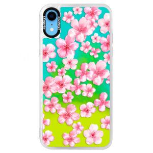 Neónové puzdro Blue iSaprio - Flower Pattern 05 - iPhone XR