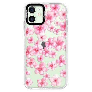 Silikónové puzdro Bumper iSaprio - Flower Pattern 05 - iPhone 12 mini
