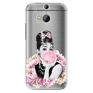 Plastové puzdro iSaprio - Pink Bubble - HTC One M8