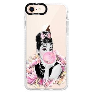 Silikónové púzdro Bumper iSaprio - Pink Bubble - iPhone 8