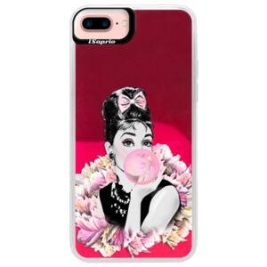 Neónové púzdro Pink iSaprio - Pink Bubble - iPhone 7 Plus