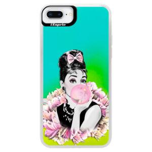 Neónové puzdro Blue iSaprio - Pink Bubble - iPhone 8 Plus