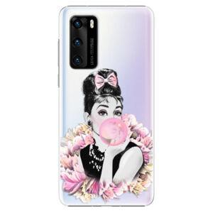 Plastové puzdro iSaprio - Pink Bubble - Huawei P40