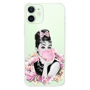 Plastové puzdro iSaprio - Pink Bubble - iPhone 12 mini
