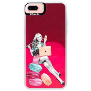 Neónové púzdro Pink iSaprio - Girl Boss - iPhone 7 Plus
