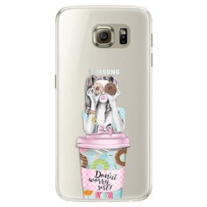 Silikónové puzdro iSaprio - Donut Worry - Samsung Galaxy S6 Edge