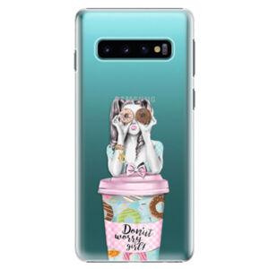 Plastové puzdro iSaprio - Donut Worry - Samsung Galaxy S10