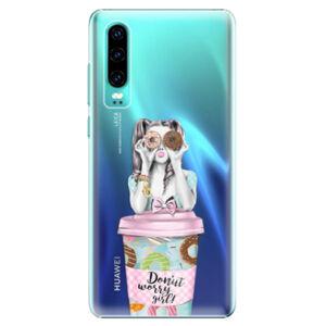 Plastové puzdro iSaprio - Donut Worry - Huawei P30