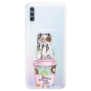 Odolné silikónové puzdro iSaprio - Donut Worry - Samsung Galaxy A50