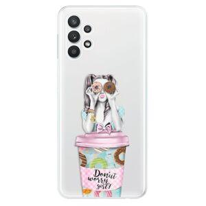 Odolné silikónové puzdro iSaprio - Donut Worry - Samsung Galaxy A32 5G