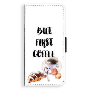 Flipové puzdro iSaprio - First Coffee - Huawei Ascend P8