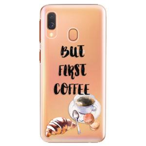 Plastové puzdro iSaprio - First Coffee - Samsung Galaxy A40
