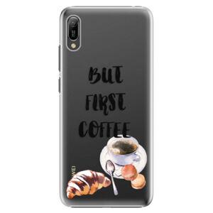Plastové puzdro iSaprio - First Coffee - Huawei Y6 2019