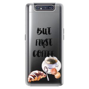 Plastové puzdro iSaprio - First Coffee - Samsung Galaxy A80