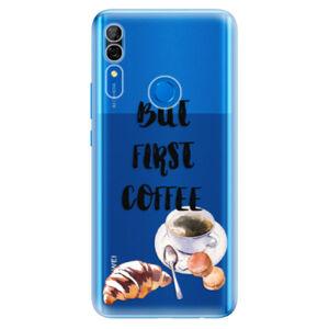 Odolné silikónové puzdro iSaprio - First Coffee - Huawei P Smart Z