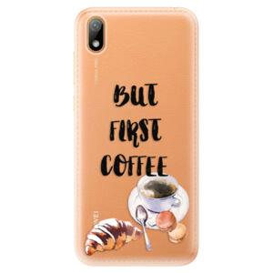 Odolné silikónové puzdro iSaprio - First Coffee - Huawei Y5 2019