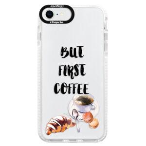 Silikónové puzdro Bumper iSaprio - First Coffee - iPhone SE 2020