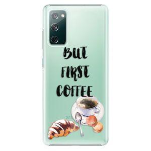 Plastové puzdro iSaprio - First Coffee - Samsung Galaxy S20 FE