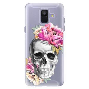 Plastové puzdro iSaprio - Pretty Skull - Samsung Galaxy A6