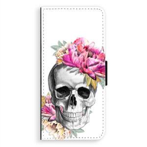 Flipové puzdro iSaprio - Pretty Skull - Samsung Galaxy A8 Plus