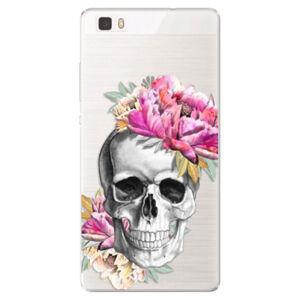 Silikónové puzdro iSaprio - Pretty Skull - Huawei Ascend P8 Lite