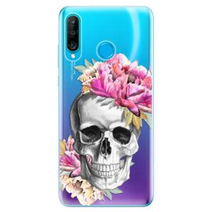 Odolné silikonové pouzdro iSaprio - Pretty Skull - Huawei P30 Lite