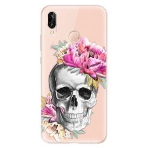 Odolné silikónové puzdro iSaprio - Pretty Skull - Huawei P20 Lite