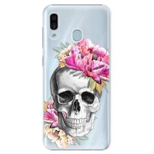 Plastové puzdro iSaprio - Pretty Skull - Samsung Galaxy A20