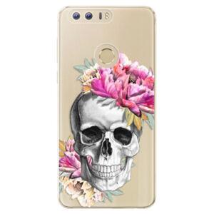 Odolné silikónové puzdro iSaprio - Pretty Skull - Huawei Honor 8