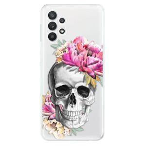 Odolné silikónové puzdro iSaprio - Pretty Skull - Samsung Galaxy A32