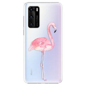 Plastové puzdro iSaprio - Flamingo 01 - Huawei P40