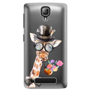 Plastové puzdro iSaprio - Sir Giraffe - Lenovo A1000