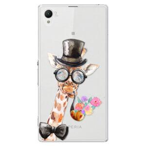 Plastové puzdro iSaprio - Sir Giraffe - Sony Xperia Z1
