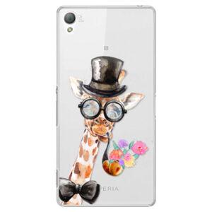 Plastové puzdro iSaprio - Sir Giraffe - Sony Xperia Z3