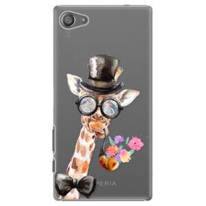 Plastové puzdro iSaprio - Sir Giraffe - Sony Xperia Z5 Compact