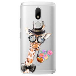 Plastové puzdro iSaprio - Sir Giraffe - Lenovo Moto M