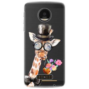 Plastové puzdro iSaprio - Sir Giraffe - Lenovo Moto Z