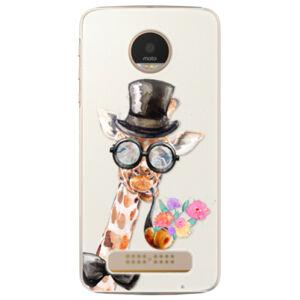 Plastové puzdro iSaprio - Sir Giraffe - Lenovo Moto Z Play